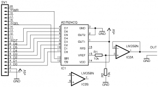 A simple DAC using the TLC7524 « waveguide.se on